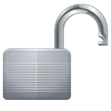 Open Lock whatsapp emoji