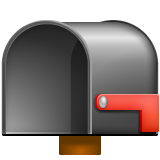Open Mailbox With Lowered Flag whatsapp emoji