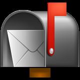 Open Mailbox With Raised Flag whatsapp emoji