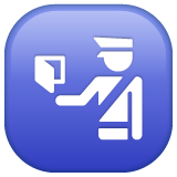 Passport Control whatsapp emoji