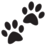 Paw Prints whatsapp emoji