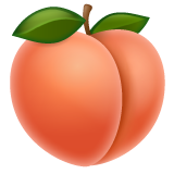Peach whatsapp emoji