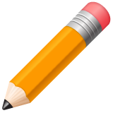 Pencil whatsapp emoji