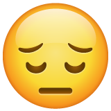 Pensive Face whatsapp emoji