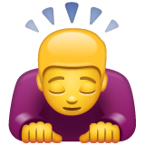 Person Bowing Deeply whatsapp emoji