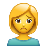 Person Frowning whatsapp emoji