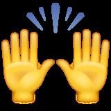 Person Raising Both Hands In Celebration whatsapp emoji