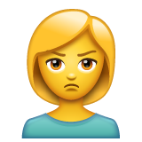 Person With Pouting Face whatsapp emoji