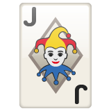 Playing Card Black Joker whatsapp emoji