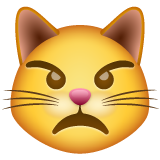 Pouting Cat Face whatsapp emoji