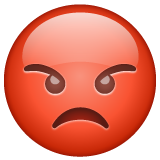Pouting Face whatsapp emoji