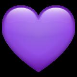 Purple Heart whatsapp emoji