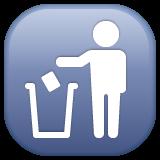 Put Litter In Its Place Symbol whatsapp emoji