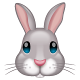Rabbit Face whatsapp emoji