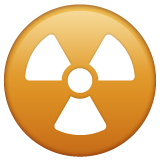 Radioactive Sign whatsapp emoji