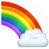 Rainbow whatsapp emoji