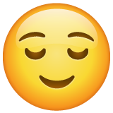 Relieved Face whatsapp emoji