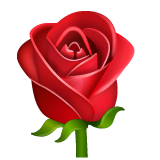 Rose whatsapp emoji