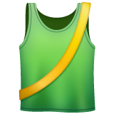 Running Shirt With Sash whatsapp emoji