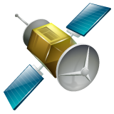 Satellite whatsapp emoji