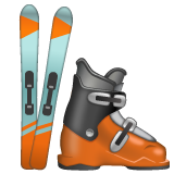 Ski And Ski Boot whatsapp emoji