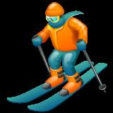 Skier whatsapp emoji