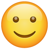 Slightly Smiling Face whatsapp emoji