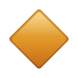 Small Orange Diamond whatsapp emoji