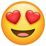 Smiling Face With Heart-shaped Eyes whatsapp emoji