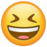 Smiling Face With Open Mouth And Tightly-closed Eyes whatsapp emoji