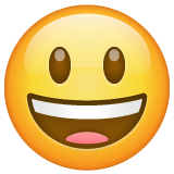 Smiling Face With Open Mouth whatsapp emoji