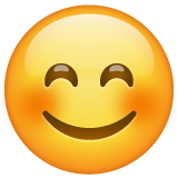 Smiling Face With Smiling Eyes whatsapp emoji