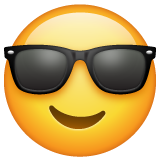 Smiling Face With Sunglasses whatsapp emoji