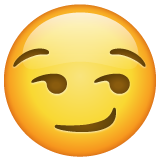 Smirking Face whatsapp emoji