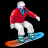 Snowboarder whatsapp emoji
