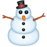 Snowman Without Snow whatsapp emoji