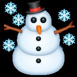 Snowman whatsapp emoji