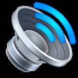Speaker With Three Sound Waves whatsapp emoji