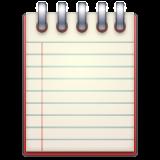 Spiral Note Pad whatsapp emoji