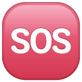 Squared Sos whatsapp emoji