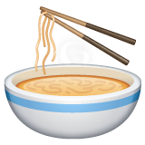 Steaming Bowl whatsapp emoji
