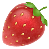 Strawberry whatsapp emoji