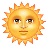 Sun With Face whatsapp emoji