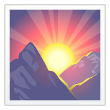Sunrise Over Mountains whatsapp emoji