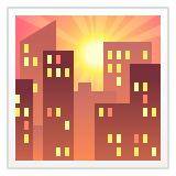 Sunset Over Buildings whatsapp emoji