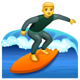 Surfer whatsapp emoji