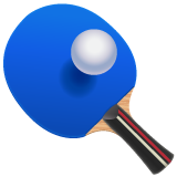 Table Tennis Paddle And Ball whatsapp emoji