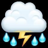 Thunder Cloud And Rain whatsapp emoji