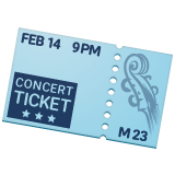 Ticket whatsapp emoji