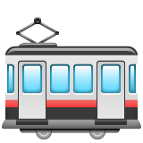 Tram Car whatsapp emoji